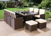 RATTAN GARDEN FURNITURE CUBE SET CHAIRS SOFA TABLE OUTDOOR ...