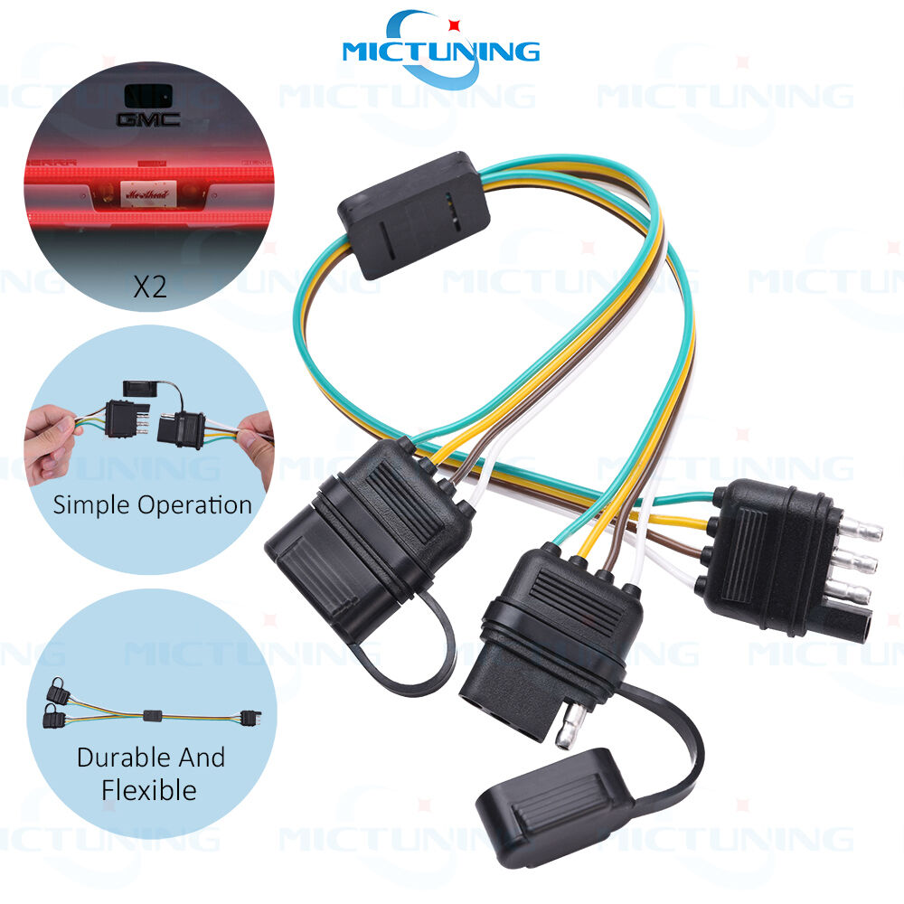 hight resolution of trailer splitter 2 way 4 pin y split wiring harness adapter for led tailgate bar