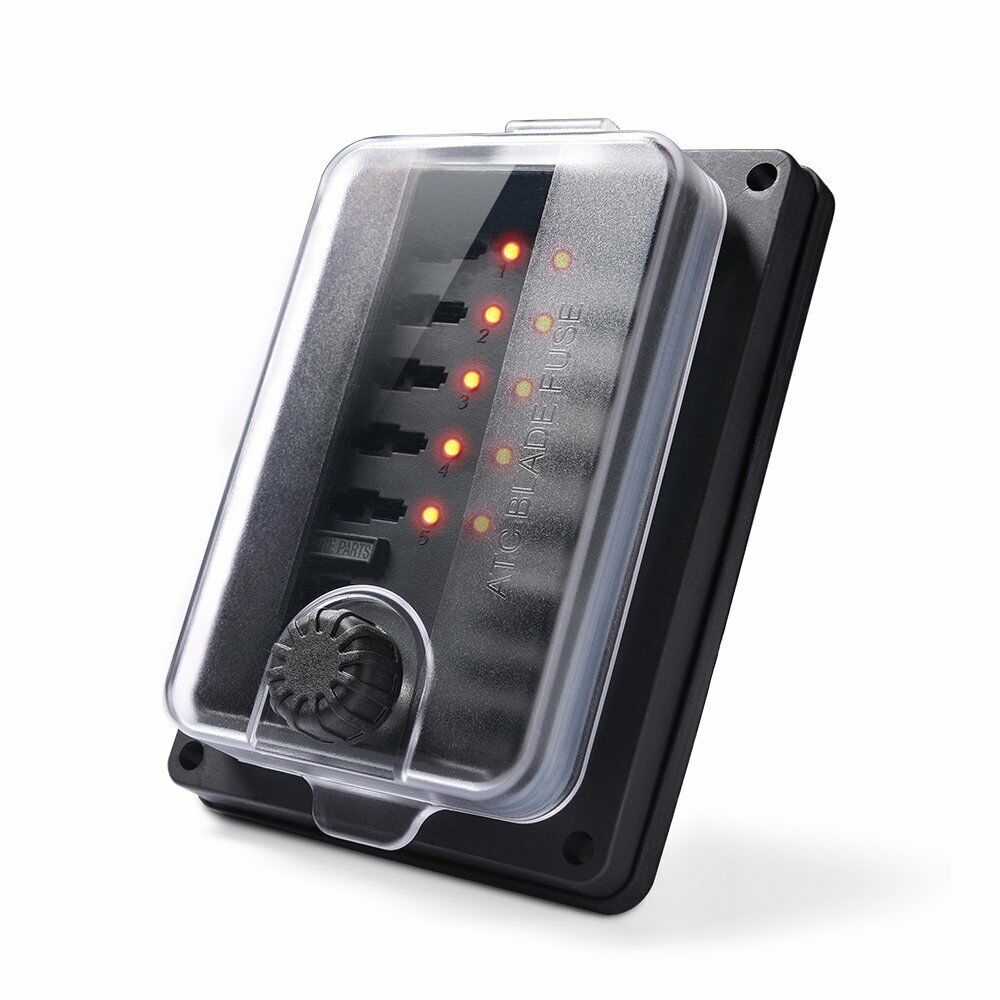 hight resolution of details about waterproof car blade fuse box led indicator atc holder block 10 way 250 amp ip56