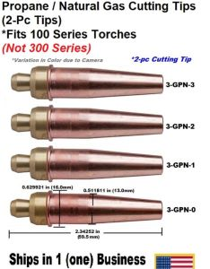 Propane natural gas cutting tip gpn for victor type torch tips pc ebay also rh