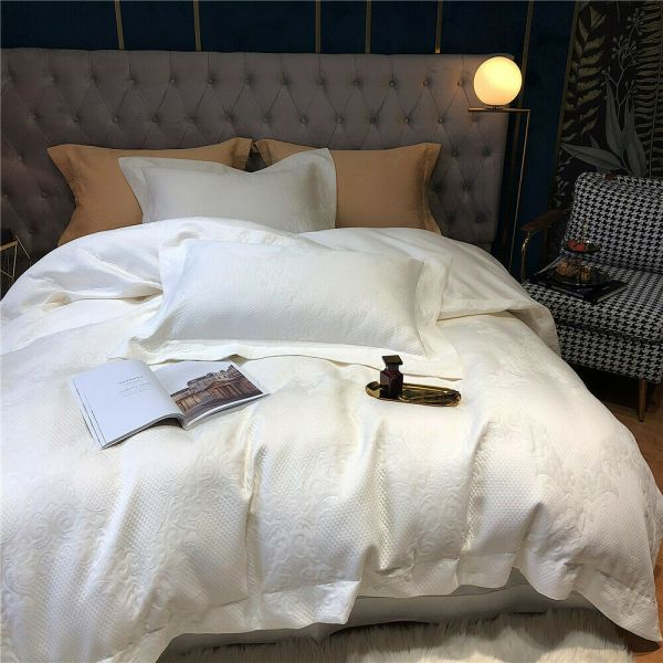 Cotton Woven Bed Throw Blanket Bedspread Lace Skirt