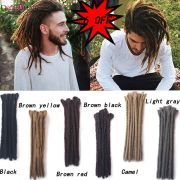 "12"" short synthetic dreadlocks"