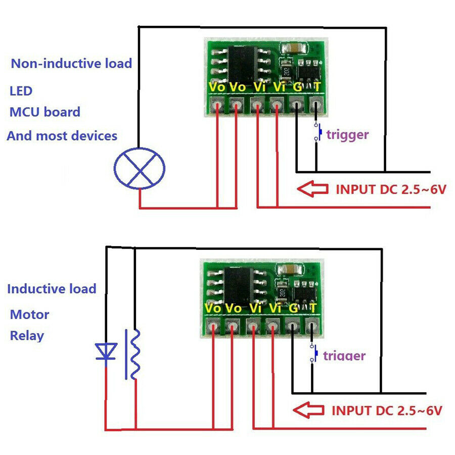 hight resolution of details about 6a bistable flip flop latch switch circuit module button trigger led relay motor