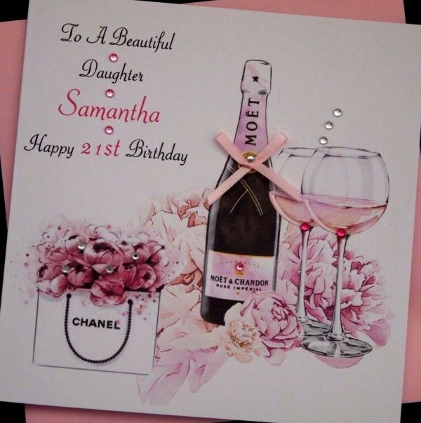 Handmade Personalised Birthday Card Daughter Granddaughter