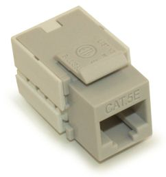 details about wall plate keystone jack cat 5e rj 45 networking gray [ 1000 x 1000 Pixel ]