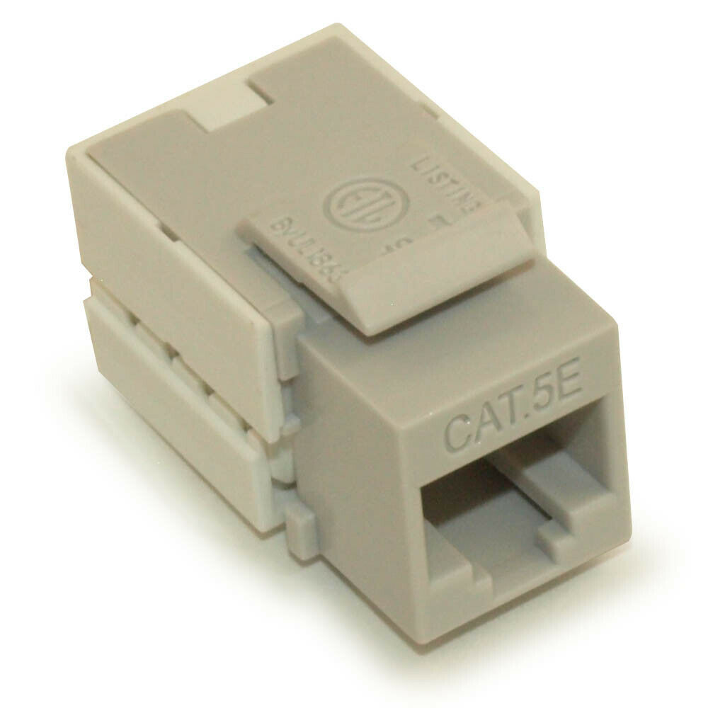 hight resolution of details about wall plate keystone jack cat 5e rj 45 networking gray