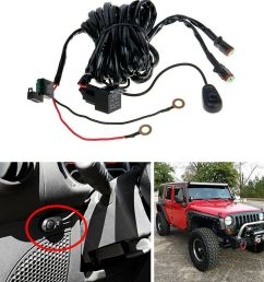 details about off road light bar wiring harness kit 12v 40a relay 2lead for driving fog led [ 1000 x 1000 Pixel ]