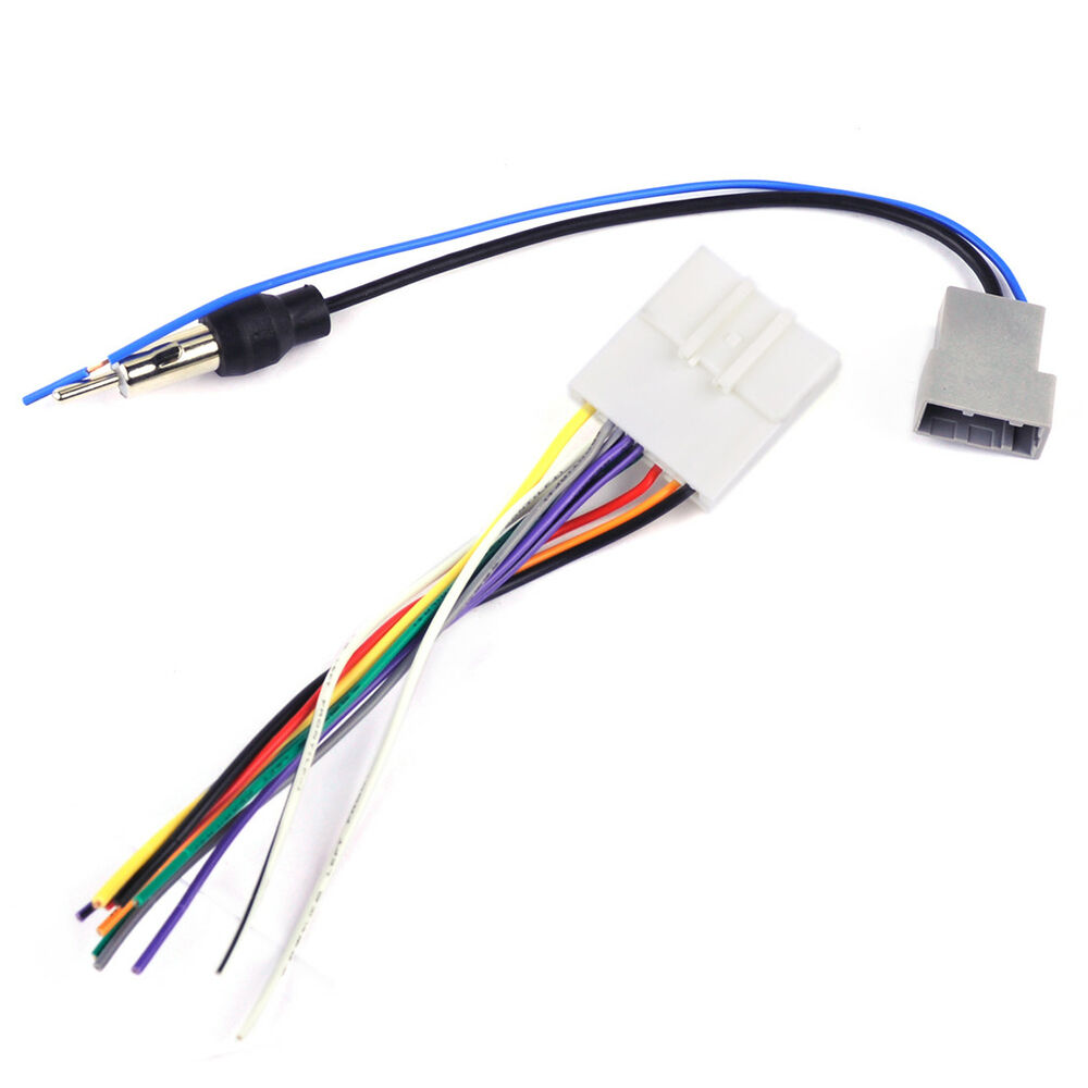 hight resolution of details about car dvd radio stereo wire harness cable plugs antenna adapter fit nissan subaru