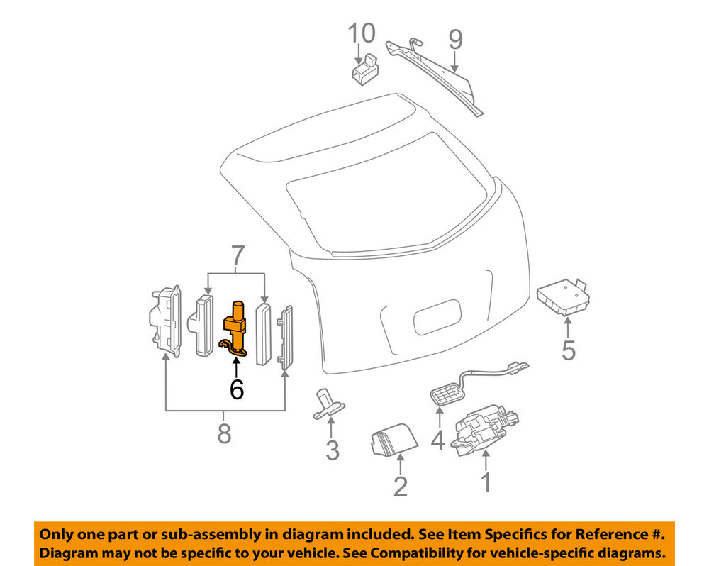 hight resolution of details about cadillac gm oem 10 15 srx liftgate tail tailgate trunk pump 25965861