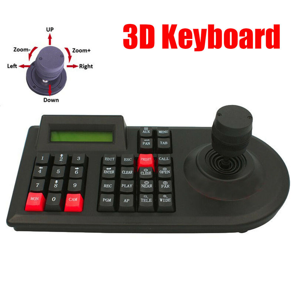 medium resolution of 3d pan tilt ptz zoom controller joystick keyboard rs 485 for cctv camera dvr ebay