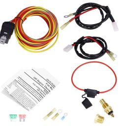 details about 12v dual lead car cooling fan wiring harness kit thermostat 40a relay universal [ 900 x 900 Pixel ]