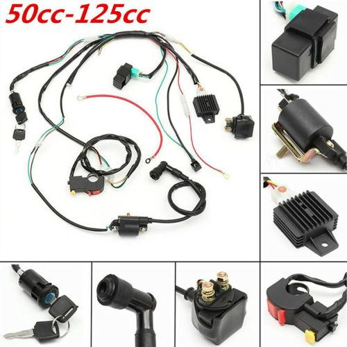 small resolution of details about cdi wiring stator assembly electric ignition coil harness kit 50 125cc atv quad