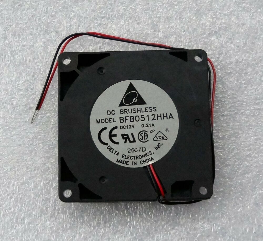 medium resolution of details about delta bfb0512hha 50mm x 10mm blower fan 12v dc 2 wire bare leads