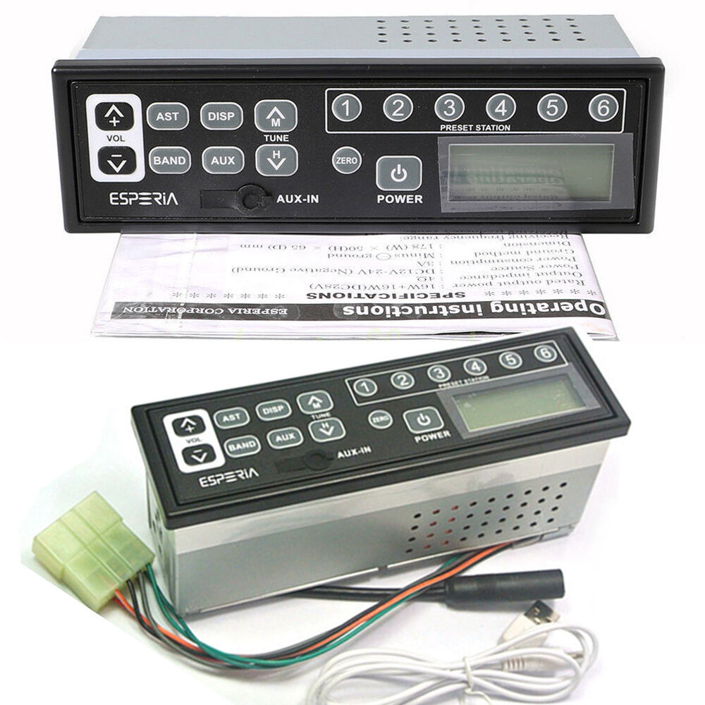 hight resolution of details about 24 volt tractor excavator radio am fm aux for cat 301 313 320 330 336 390 series