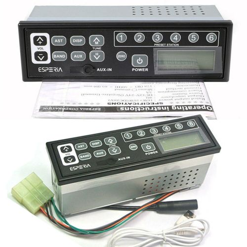 small resolution of details about 24 volt tractor excavator radio am fm aux for cat 301 313 320 330 336 390 series