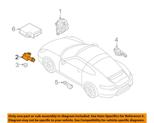 small resolution of details about porsche oem 12 15 911 airbag air bag srs front impact sensor 99161822301