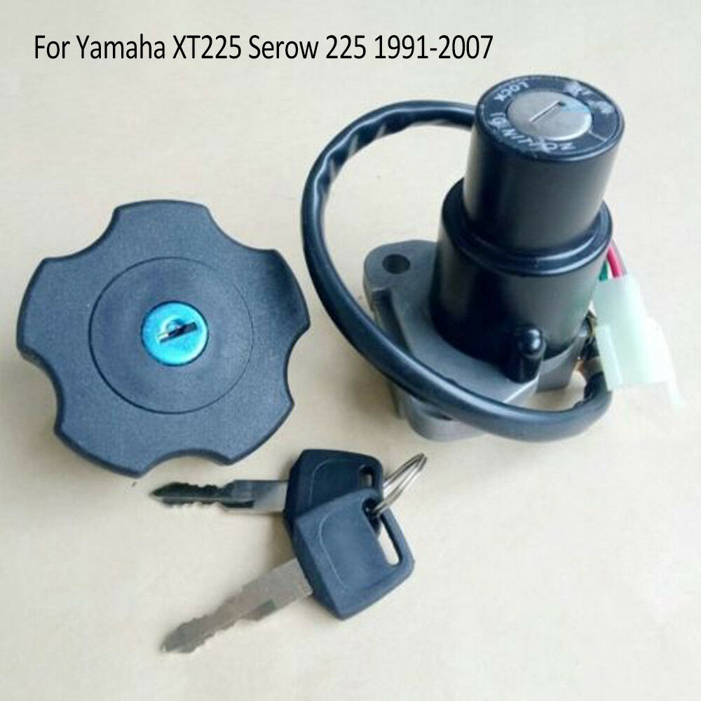hight resolution of details about for yamaha xt225 serow 225 91 07 ignition switch lock key fuel gas cap parts bcl