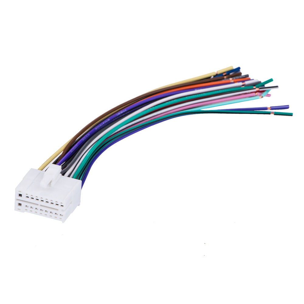 hight resolution of 18pin stereo radio wiring wire harness for clarion skcl18 car audio parts ebay