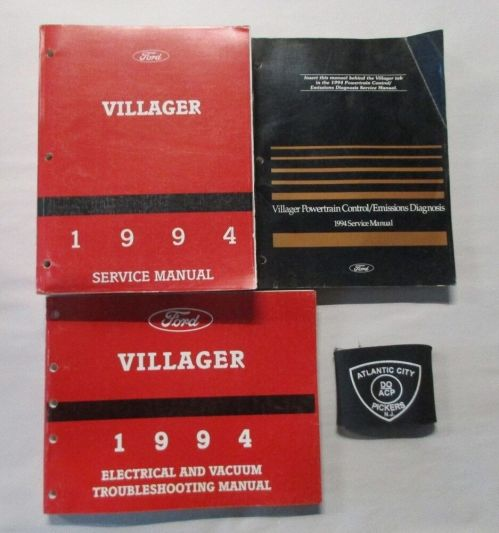 small resolution of details about 1994 ford mercury villager service shop repair manual set w wiring diagrams