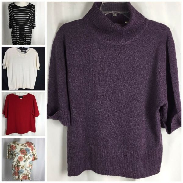Lot 5 Womens Xl Sweaters Includes Sag Harbor Alfred Dunner Kathie Lee