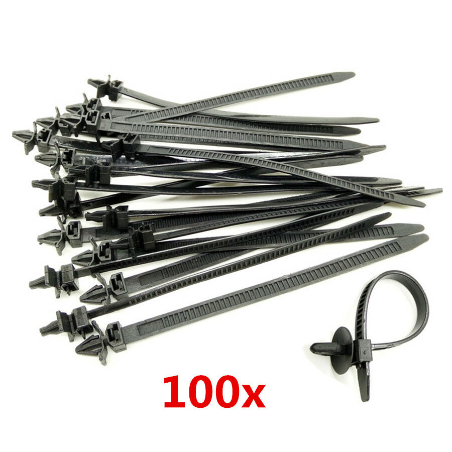 hight resolution of details about 100x mixed nylon cable tie bundled car wire harness line fastener zip clip band