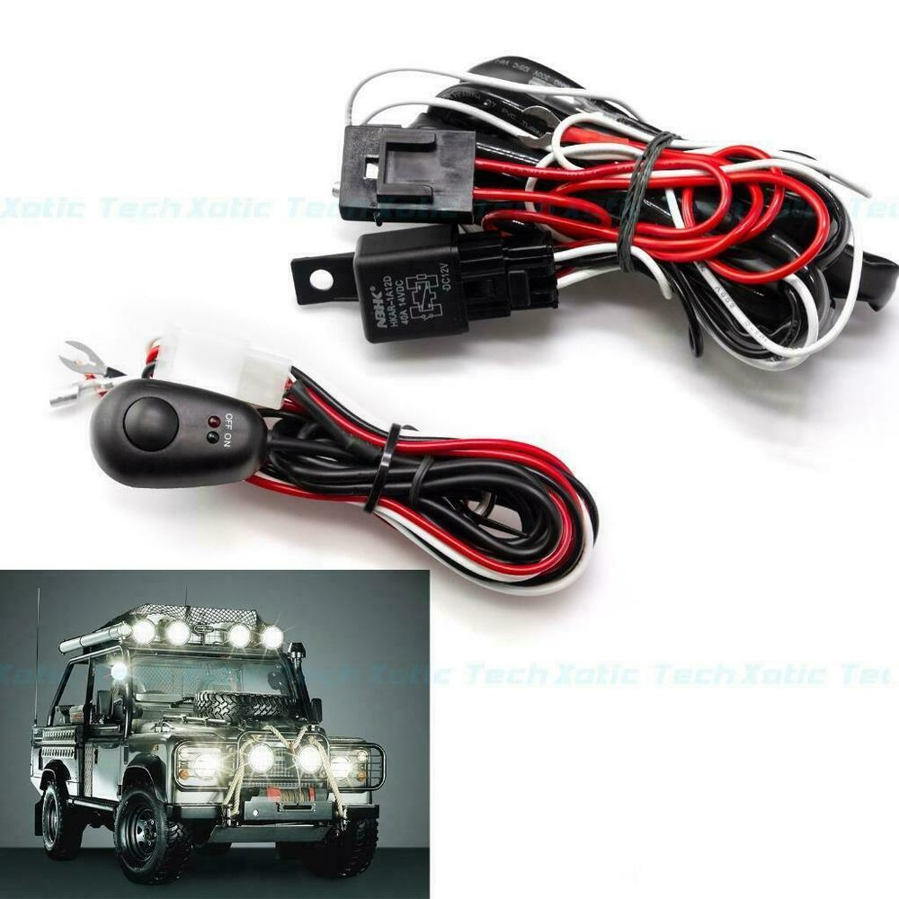hight resolution of details about 12v 40amp universal led light bar wiring harness relay on off switch cable kit