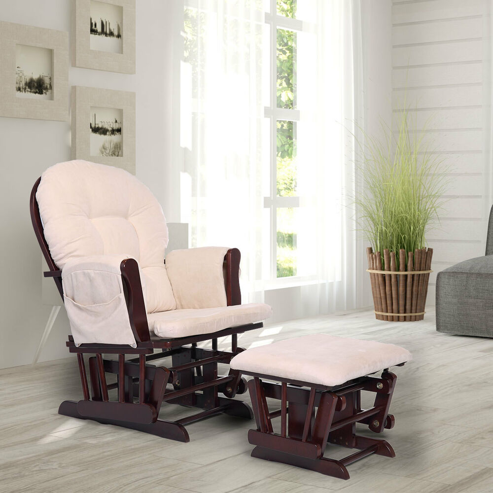baby room rocking chair sears outdoor lounge chairs glider ottoman set nursery relax w details about foot rest