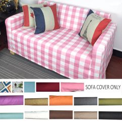 Two Seater Sofa Bed Cover Spring Replacement Solid Color Slipcover Fits Solsta Seat Custom Details About Made Udd