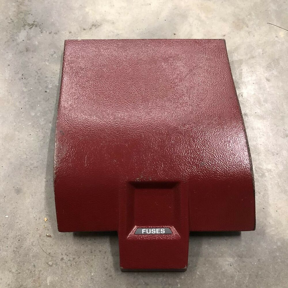 hight resolution of details about 87 89 mustang foxbody gt lx ssp 5 0 oem 87 89 fuse box cover red