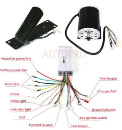 details about 1800w electric brushless start motor controller throttle pedal atv e scooter [ 1000 x 1000 Pixel ]