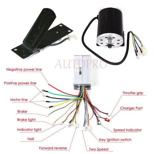 small resolution of details about 1800w electric brushless start motor controller throttle pedal atv e scooter