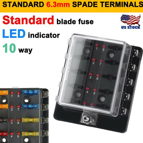 small resolution of details about 12v 24v 10 way blade fuse box holder bus bar w led failure warning lights atc