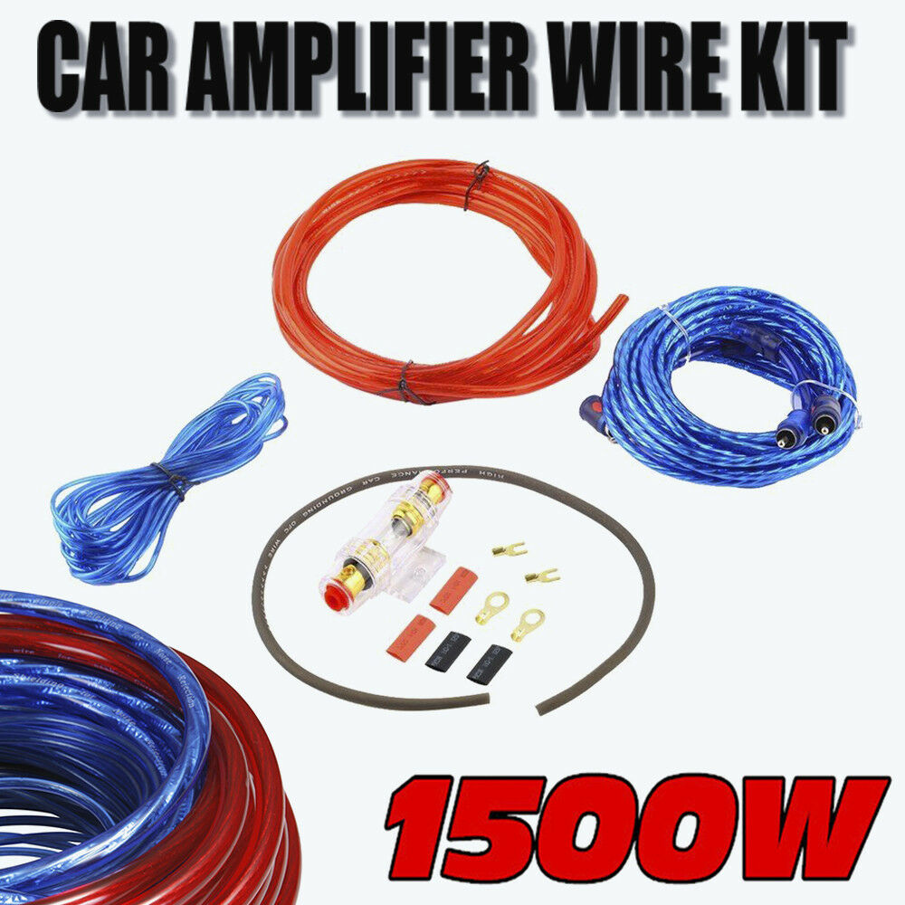 hight resolution of details about 1500w power complete gauge car amp audio amplifier cable subwoofer wiring kit