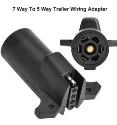 details about 7 pin rv blade to 5 pin flat trailer round wiring adapter light plug connector [ 1000 x 1000 Pixel ]