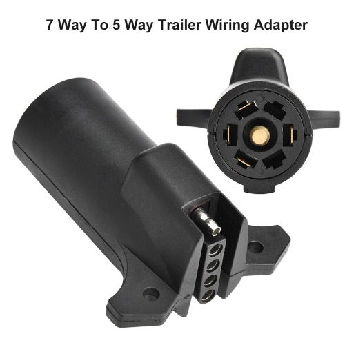 small resolution of details about 7 pin rv blade to 5 pin flat trailer round wiring adapter light plug connector