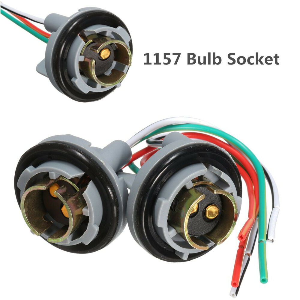 medium resolution of details about 2pcs 1157 bay15d turn light brake bulb sockets wire harness plug for led bulbs