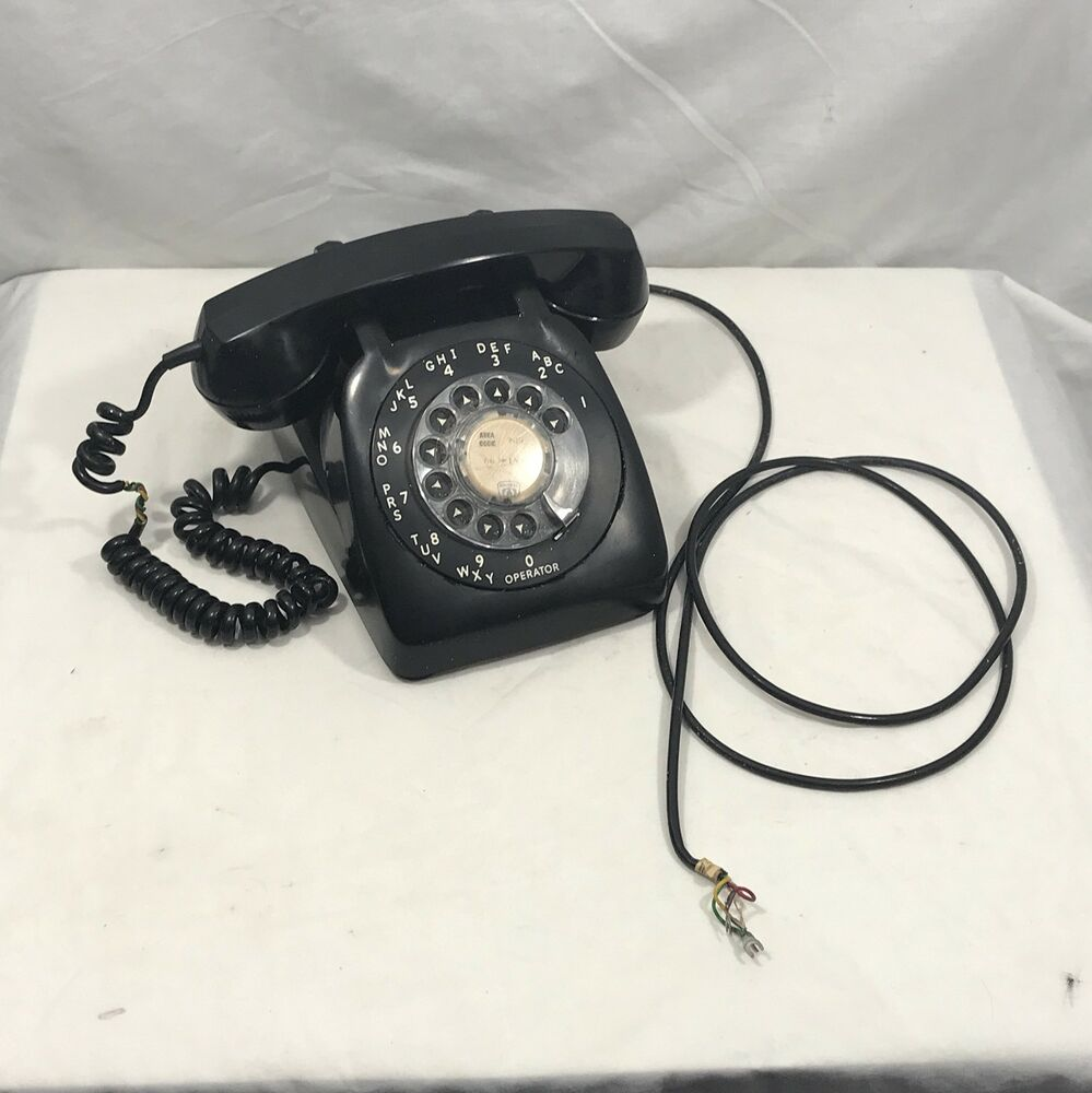 hight resolution of details about vintage 1960 s black tabletop desktop rotary telephone
