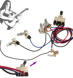 details about guitar wiring harness kit device 2t 2h 3w toggle switch for gibson les paul lp [ 1000 x 1000 Pixel ]