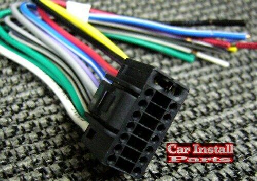 Jvc Wiring Harness Kenwood Wire Harness 16 Pin Aftermarket Oem Radio Plug Ebay