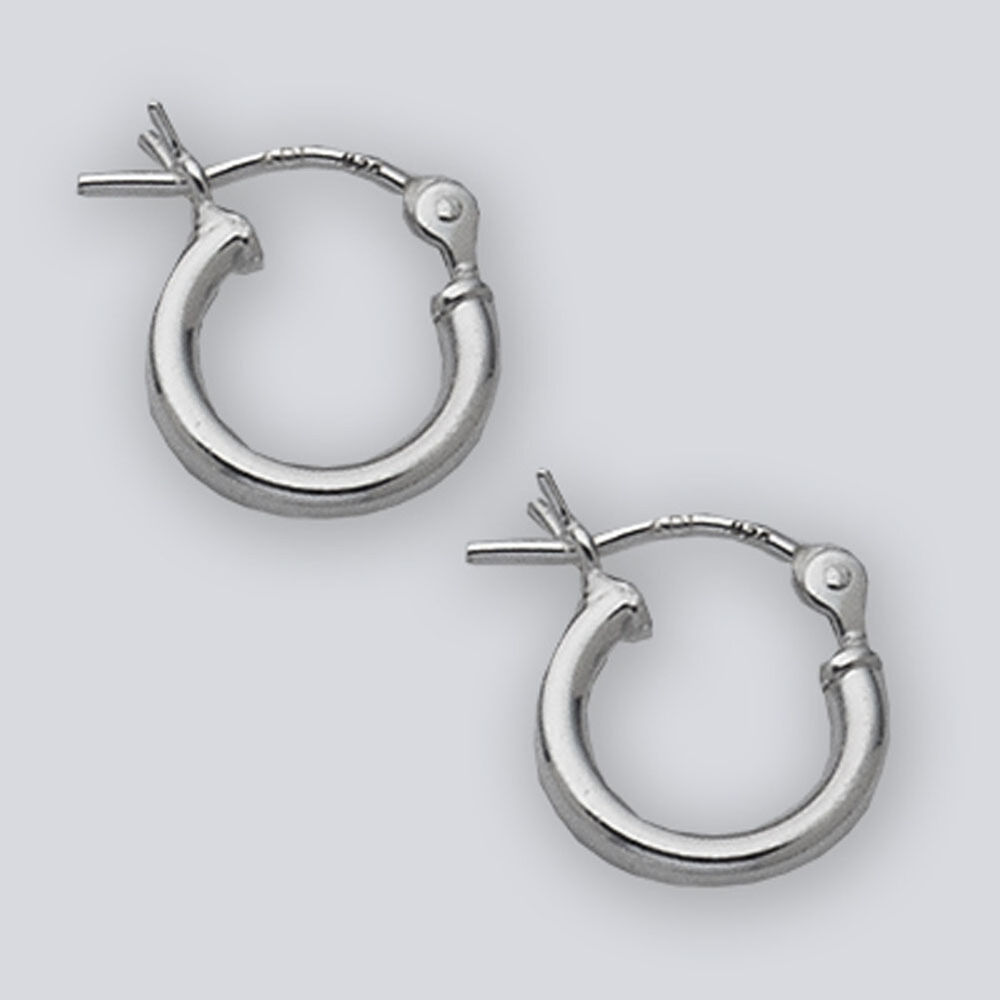 10mm Small Sterling Silver Hinged Hoop Earrings 2015