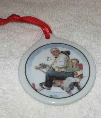 1997 JC PENNY ORNAMENT GRAMPS AT REINS NORMAN ROCKWELL EBay