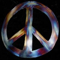 PEACE Sign Symbol Hippie Metal Wall Accent Art Decor | eBay