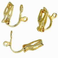 20 Gold Plated 12x6mm Clip On Earring Findings | eBay