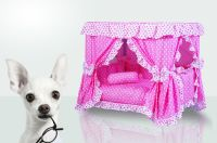 Handmade Luxury Pink Princess Gorgeous Dogs Cat Pet Bed
