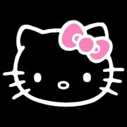 kitty pink bow