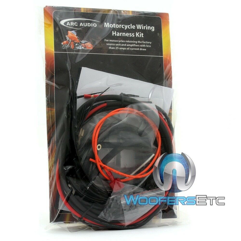medium resolution of details about arc audio motorcycle wiring harness harley davidson amps less than 25 amps