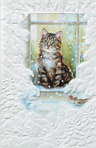 CHRISTMAS CARDS MERRY MEOW Pumpernickel Press MADE