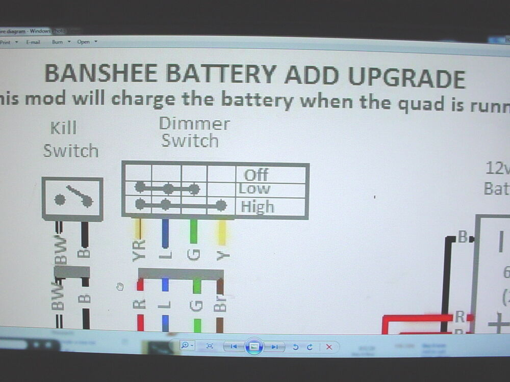 banshee wiring diagram help vn v8 ecu yamaha stator battery ugrade engine motor lights | ebay