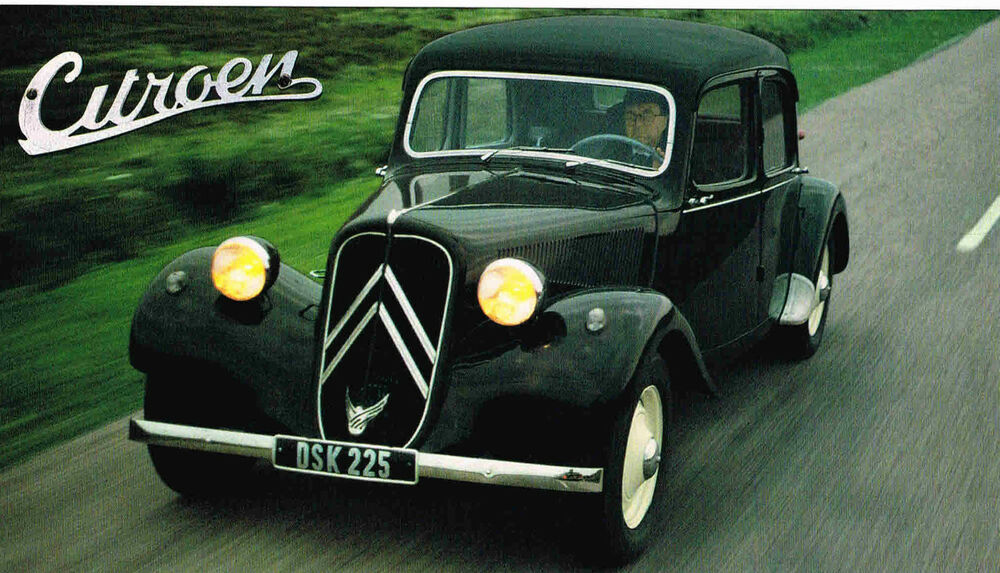1951 1952 1953 CITROEN TRACTION AVANT SPEC SHEET Brochure