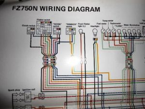 Yamaha OEM Factory Color Wiring Diagram Schematic 1985 FZ750N | eBay